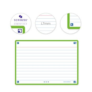 3020120153551 - Oxford flashcards 2.0 gelijnd groen (105 x 148mm)
