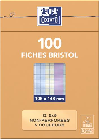 3020120739427 - Oxford Flashcard A6 geruit (100 stuks)