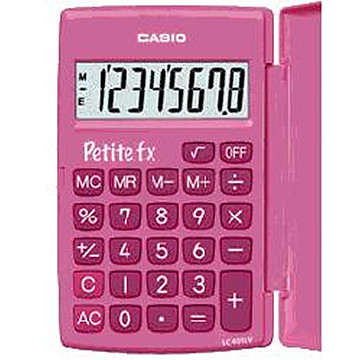 4971850182412 - Rekenmachine Casio basis roze