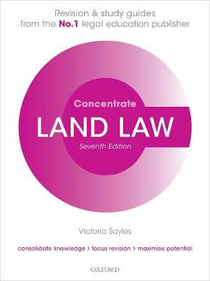 9780198855224 - Land Law Concentrate: Law Revision and Study Guide