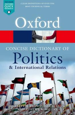 9780199670840 - The Concise Oxford Dictionary of Politics and International Relations
