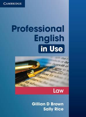 9780521685429 - Professional English In Use Law
