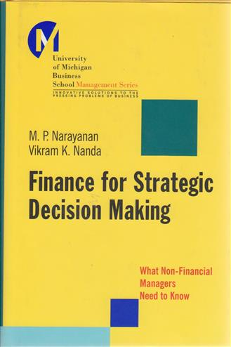 9780787965174 - Finance for strategic decision making what non-financial managers need to know