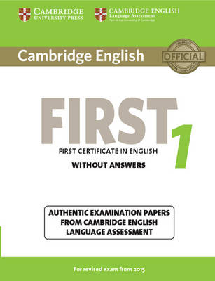 9781107668577 - Cambridge English First 1 for Revised Exam from 2015 Student's Book Without Answers