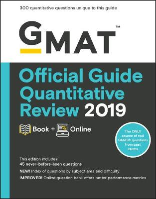 9781119507710 - Gmat Official Guide 2019 Quantitative Review: Book + Online