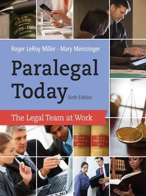 9781133591078 - Paralegal Today: The Legal Team At Work