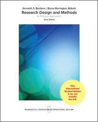9781259922121 - Research Design and Methods: A Process Approach