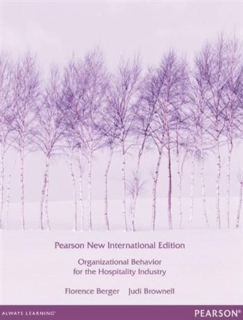 9781292056241 - Organizational Behaviour for the Hospitality Industry:Pearson New International Edition