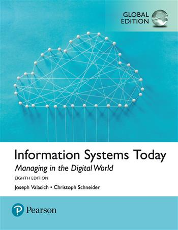 9781292216034 - Information Systems Today: Managing the Digital World, Global Edition