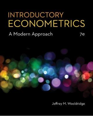 9781337558860 - Introductory Econometrics: A Modern Approach