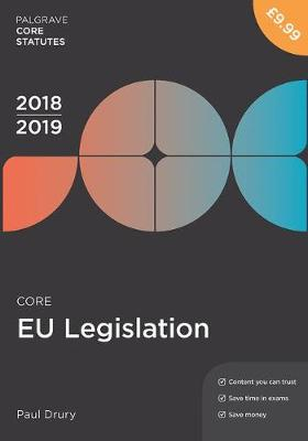 9781352003598 - Core Eu Legislation 2018-19