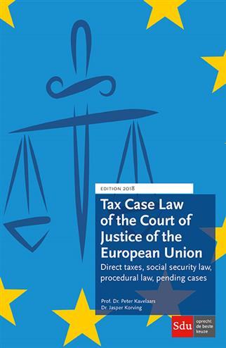 9789012403276 - Tax Case Law of the Court of Justice of the European Union 2018