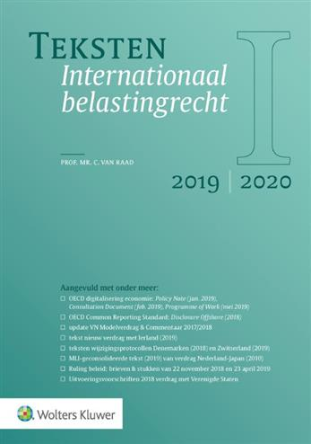 9789013154054 - Teksten Internationaal belastingrecht 2019-2020
