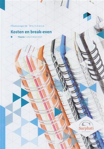9789492028686 - Kosten en break-even