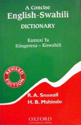 9789976400168 - Concise English-Swahili Dictionary